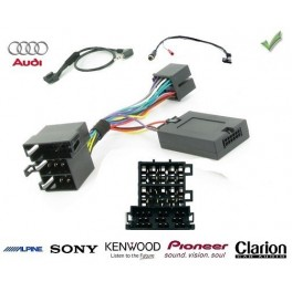 COMMANDE VOLANT Audi A6 2006- - Pour Pioneer complet avec interface specifique