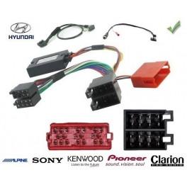 COMMANDE VOLANT Hyundai Terracan 2.9 CRDI - Connecteur rectangulaire Pour Pioneer complet avec interface specifique