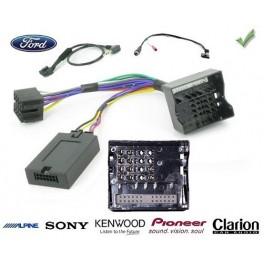 COMMANDE VOLANT FORD C-MAX 2011- AFF. GRAND ECRAN - Pour Pioneer complet avec interface specifique