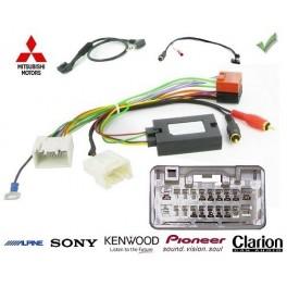 COMMANDE VOLANT Mitsubishi Lancer 2007-2010 AVEC AMPLI ROCKFORD FOSGATE - Pour Alpine complet avec interface specifique