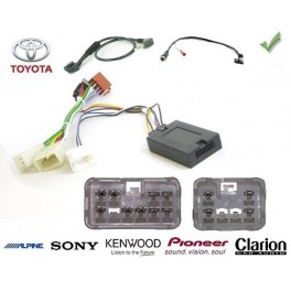 COMMANDE VOLANT Toyota Corolla Verso 2004- - Pour SONY complet avec interface specifique
