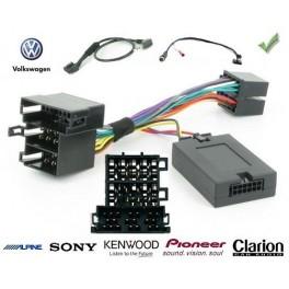 COMMANDE VOLANT Volkswagen Touran 2003-2006 FAKRA AVEC AMPLI DYNAUDIO - Pour SONY complet avec interface specifique