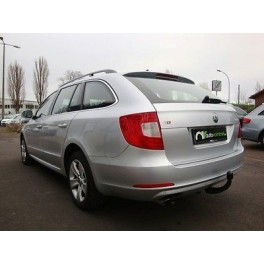 ATTELAGE SKODA SUPERB BREAK 2010- (3T) - RDSOH demontable sans outil - attache remorque GDW-BOISNIER