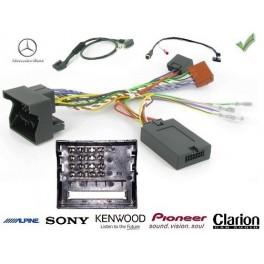 COMMANDE VOLANT Mercedes CLASSE C 2007 W203 FAKRA SANS AMPLI - Pour Pioneer complet avec interface specifique