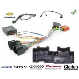 COMMANDE VOLANT CHEVROLET S10 2010- - Pour SONY complet avec interface specifique