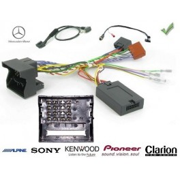COMMANDE VOLANT Mercedes CLASSE B 2005-2011 W245 FAKRA SANS AMPLI - Pour Pioneer complet avec interface specifique