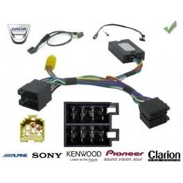COMMANDE VOLANT DACIA LODGY 2012- - Pour Pioneer complet avec interface specifique