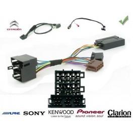 COMMANDE VOLANT CITROEN JUMPER 03/2011- - Pour Pioneer complet avec interface specifique